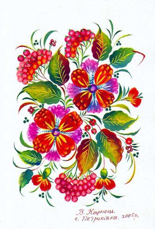 Узор Цветок спицами  woman7ru