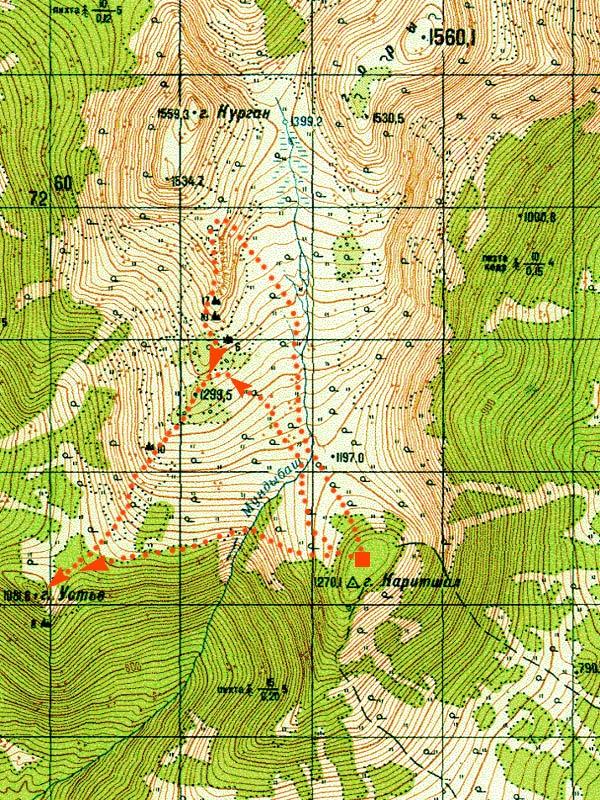 Карта с предлагаемыми